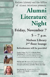 Alumni Literature Night Poster