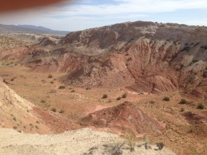 The west central poart of the filed area, with more knife edges but excellent geology exposure.