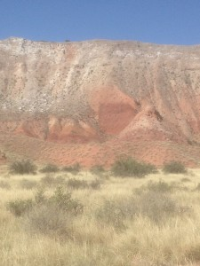 One fault on the 300 ft high West Side wall topped by Dragon's Back.