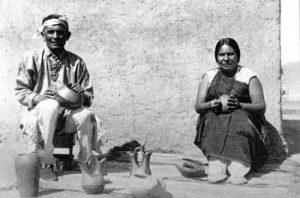 Picture of Lela and Van Gutierrez Santa Clara Pueblo ca 1933